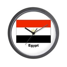 Egypt Egyptian Flag Wall Clock