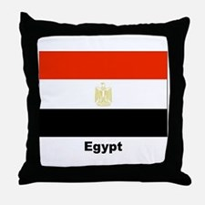 Egypt Egyptian Flag Throw Pillow