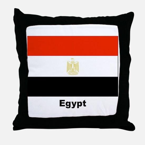 Egypt Egyptian Flag Throw Pillow
