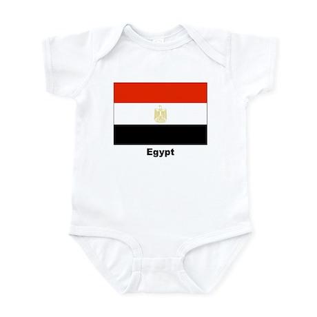 Egypt Egyptian Flag Infant Creeper