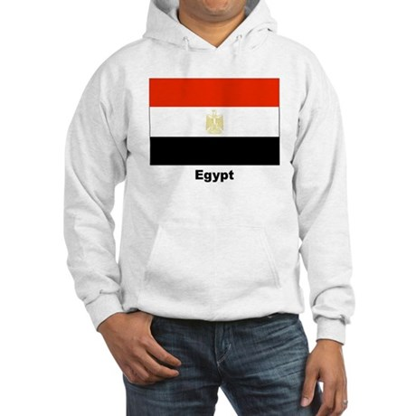 Egypt Egyptian Flag Hooded Sweatshirt