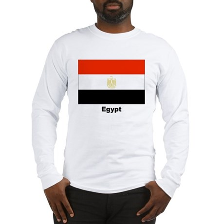 Egypt Egyptian Flag Long Sleeve T-Shirt