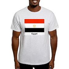 Egypt Egyptian Flag (Front) Ash Grey T-Shirt