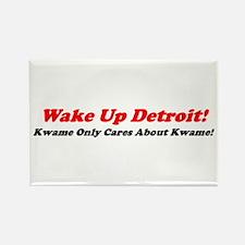 """Wake Up Detroit!"" Rectangle Magnet"