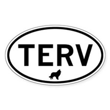 TERV (Belgian Tervuren) Oval Decal
