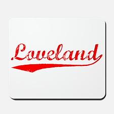 Vintage Loveland (Red) Mousepad