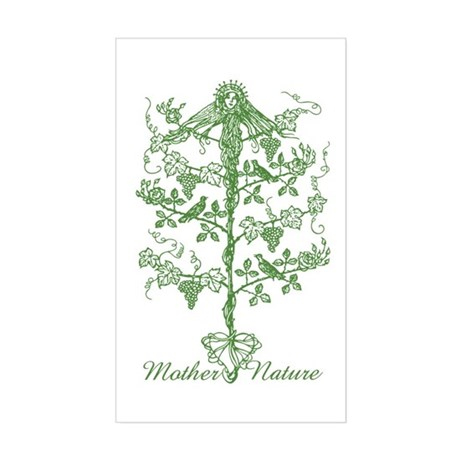 Mother Nature Rectangle Sticker