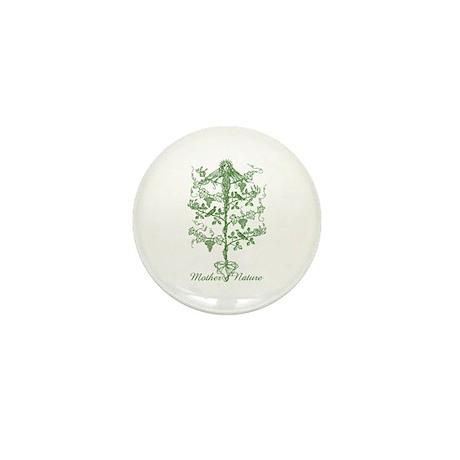 Mother Nature Mini Button