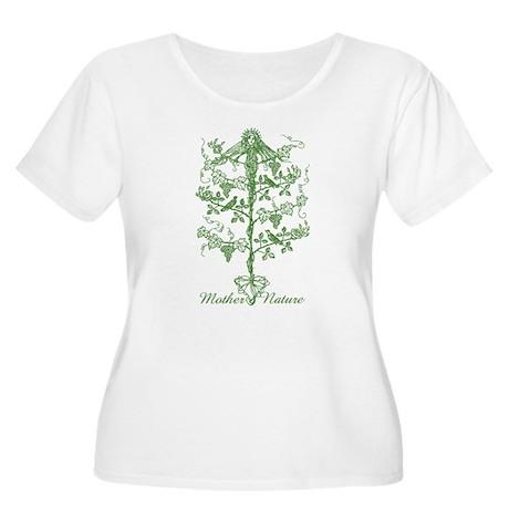 Mother Nature Women's Plus Size Scoop Neck T-Shirt