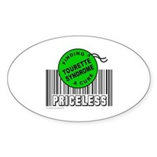 TOURETTE SYNDROME FINDING A CURE Oval Decal