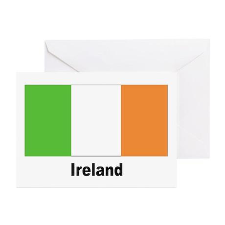 Ireland Irish Flag Greeting Cards (Pk of 10)