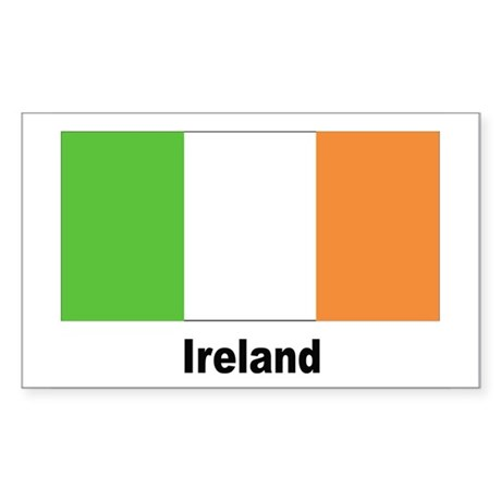 Ireland Irish Flag Rectangle Sticker