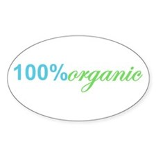 100 Percent Organic Earth Day Oval Decal