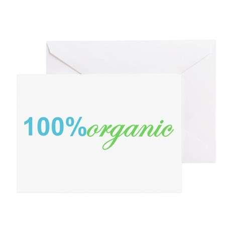 100 Percent Organic Earth Day Greeting Card