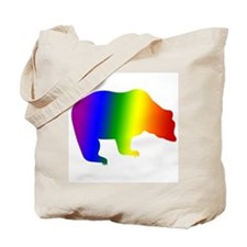 Rainbow Gay Pride Bear Tote Bag
