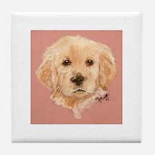 Golden Retriever Puppy 2 Tile Coaster