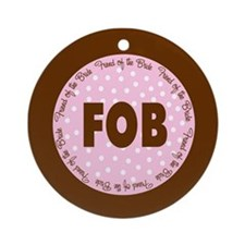 Polka Dot Bride's Friend Ornament (Round)