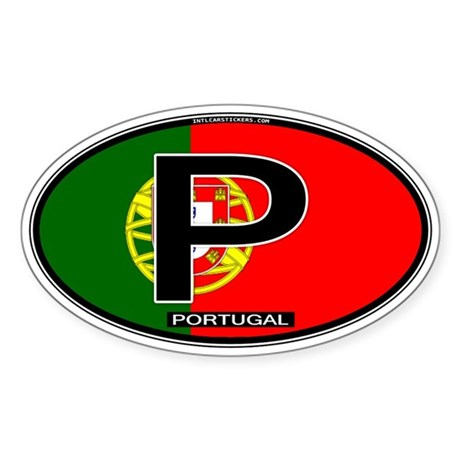 Portugal Oval Colors Oval Sticker