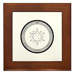 2nd Pentacle of Jupiter honor & riches Framed Tile