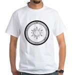2nd Pentacle of Jupiter honor & riches White T-Shi