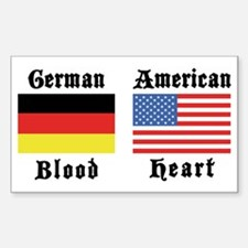 German American Rectangle Decal