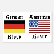 German American Rectangle Decal