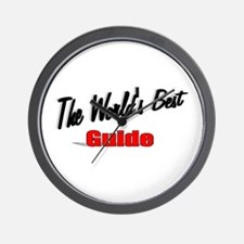 """""""The World's Best Guide"""" Wall Clock"""