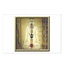 Chakras system Postcards (Package of 8)