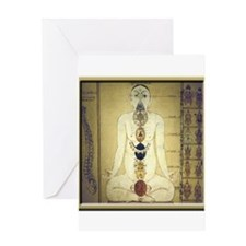Chakras system Greeting Card