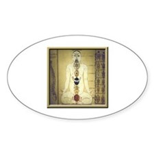 Chakras system Oval Decal