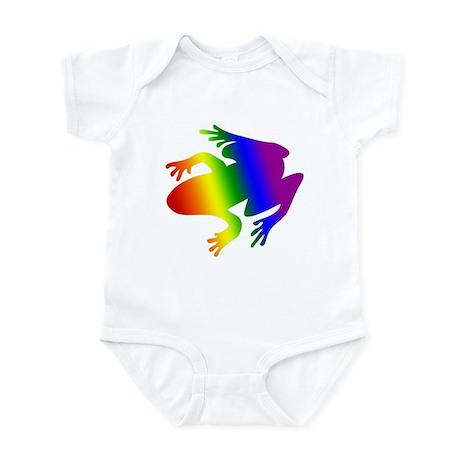 Rainbow Gay Pride Frog Infant Creeper