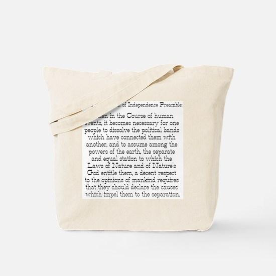 Preamble to Declaration  Tote Bag