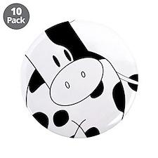 "Cute Cow 3.5"" Button (10 pack)"