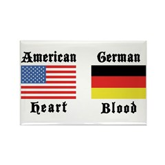 American German Rectangle Magnet (100 pack)