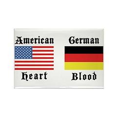 American German Rectangle Magnet (10 pack)
