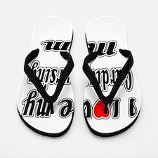 I Love My CARDIAC Nusing Mom Flip Flops