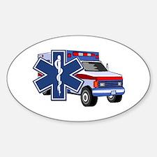 EMS Ambulance Sticker (Oval)