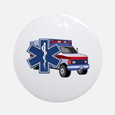 EMS Ambulance Ornament (Round)
