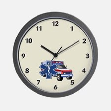 EMS Ambulance Wall Clock