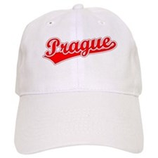 Retro Prague (Red) Baseball Cap