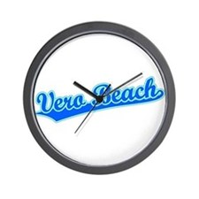 Retro Vero Beach (Blue) Wall Clock