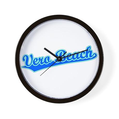 Retro Vero Beach (Blue) Wall Clock