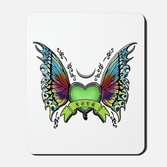 Amazing Butterfly Winged Hear Mousepad