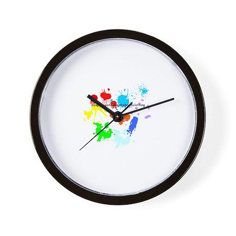 Paint Splatter Wall Clock