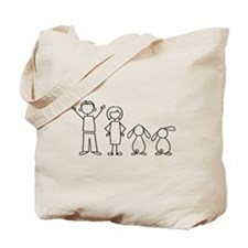 2 lop bunnies family Tote Bag