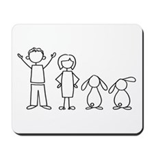 2 lop bunnies family Mousepad
