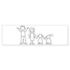 2 lop bunnies family Bumper Car Sticker
