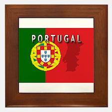 Portugal Flag Extra Framed Tile