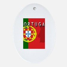Portugal Flag Extra Oval Ornament