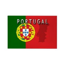 Portugal Flag Extra Rectangle Magnet
